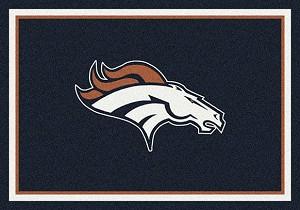 Denver Broncos Team Spirit Rug Nfl Team Rugs Milliken