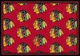 Chicago Blackhawks Logo Repeat Rug