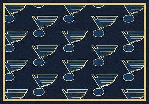 St Louis Blues Logo Repeat Rug Nhl Team Rugs Milliken
